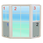 Window example to help you estimate your Austin window cleaning