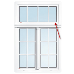Transom window example to help you estimate your Austin window cleaning